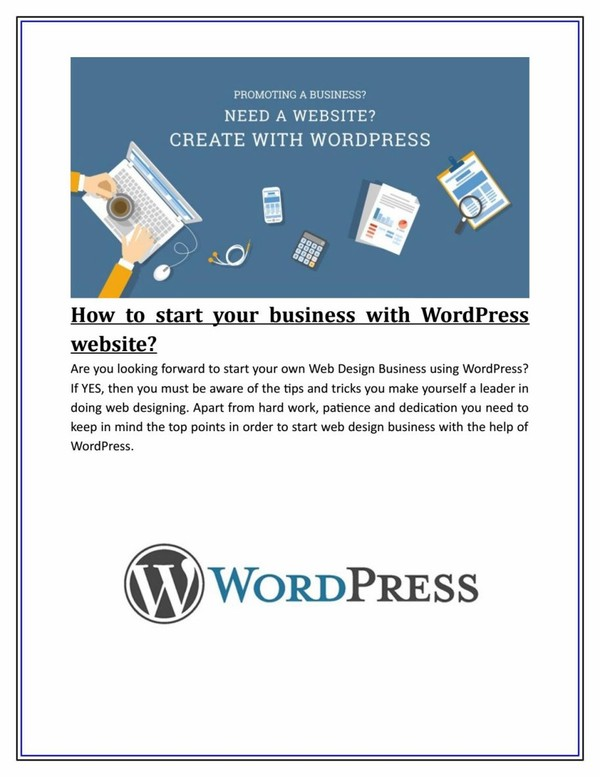How to start your business with WordPress website?