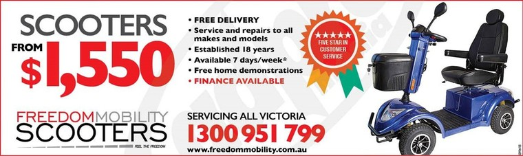 Freedom Mobility - Mobility Scooters Australia - New Mobility Scooters