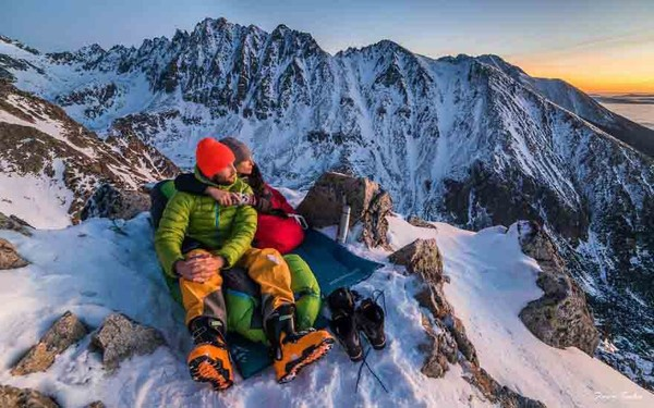 Adventurous couple who came from Slovakia
