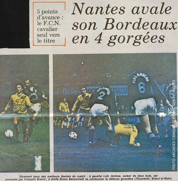 Nantes a fait exploser Bordeaux