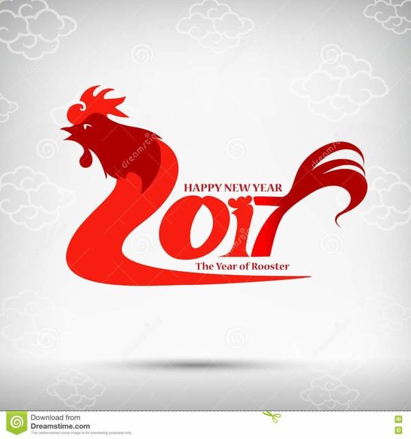 Coq rouge de style d'art de Chinoise de la bonne année 2017 pour la conception et