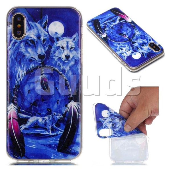Wolves Totem Soft TPU Back Cover for iPhone X(5.8 inch) - TPU Case - Guuds