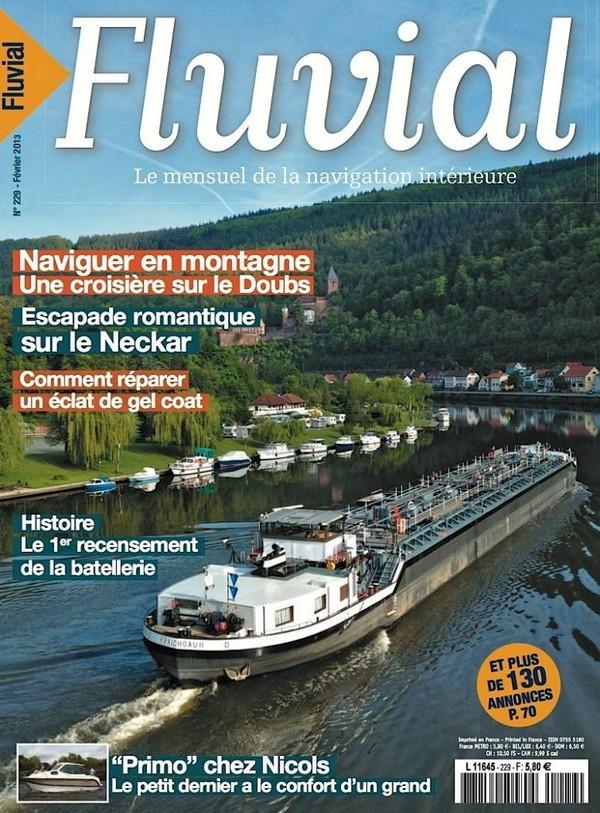 Revue Fluvial Vient de paraître FLUVIAL 229 : dans les kiosques et les maisons de Presse
