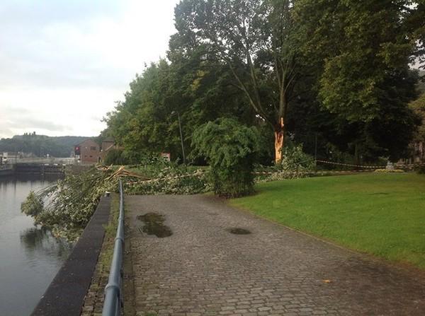 Parc de la Plante en bordure du Ravel et de l'écluse...