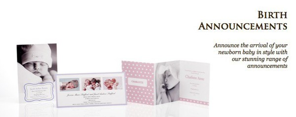 CocoCards, Christening invitations, birth announcements, baby shower invitations