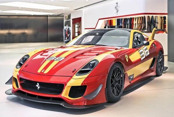 A spectacular showcase of special edition Ferrari vehicles in Shanghai
