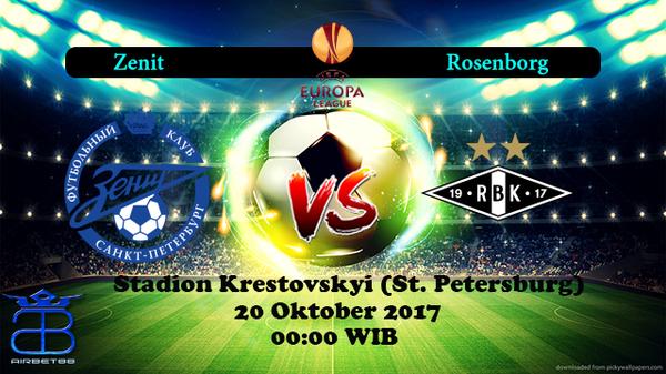 Prediksi Zenit VS Rosenborg 20 Oktober 2017 | Prediksiskorbolajitu |