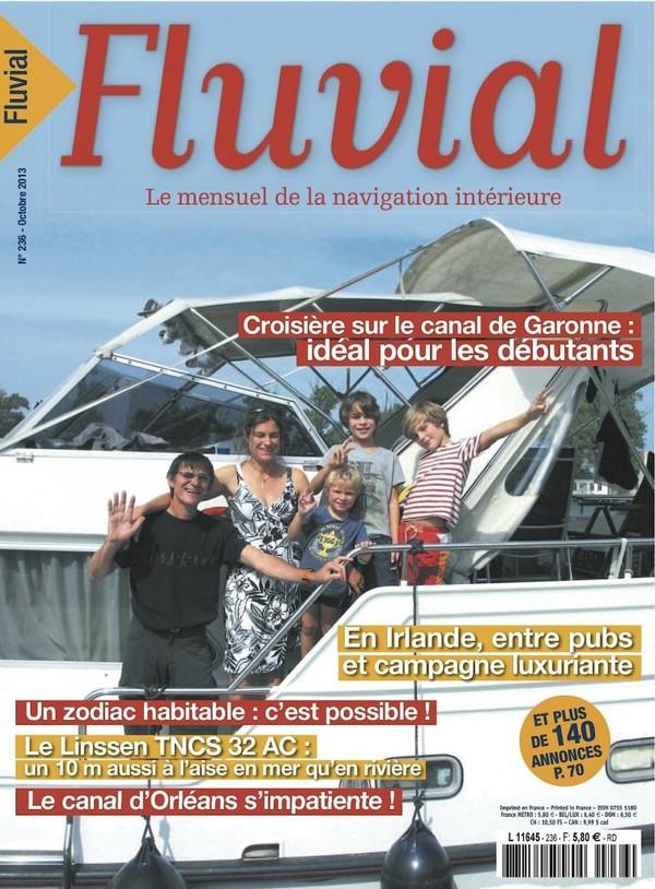 Revue Fluvial vient de paraître FLUVIAL 236 d'octobre - L'été indien est dans les kiosques !