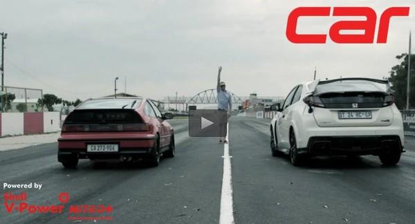 DRAG RACE: Honda Civic Type-R vs Honda CR-X - CARmag.co.za