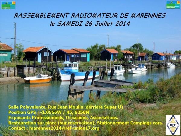 Marennes 2014 : Samedi 26 juillet (Rappel)