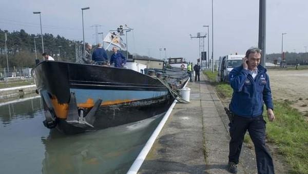 Baisse du transport fluvial de marchandises en Wallonie