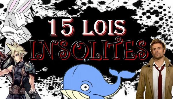 CBS#9 - 15 Lois Insolites !
