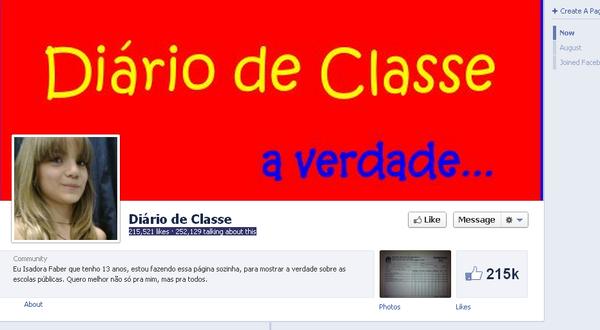 Un journal de classe brésilien fait fureur sur Facebook