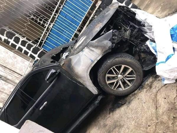 Le 4×4 du gouverneur Abdallah Mohamed d'Anjouan « est brûlé » hier nuit à Ouani | | Comores Infos