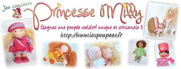 Jeu Concours : Gagnez une Poupée Waldorf PRINCESSE MILLY - Poupée Waldorf Princesse Milly, poupee chiffon, poupée waldorf
