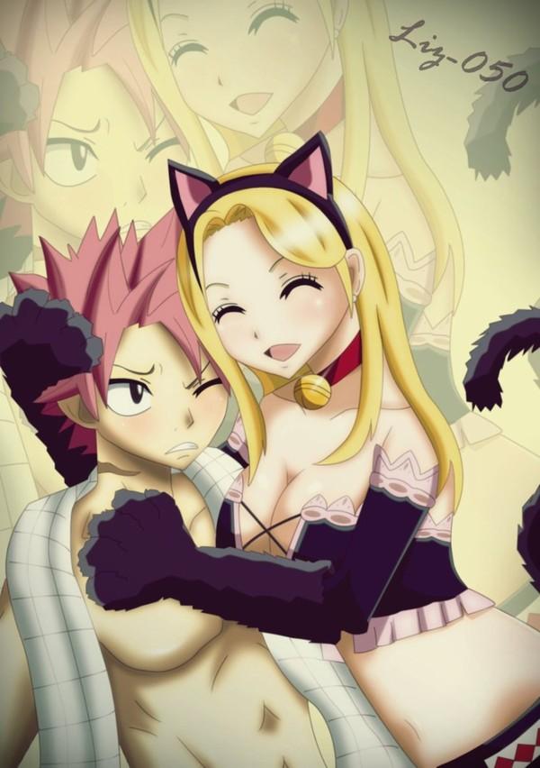 Natsu x Lucy: Meow by ~Liz-050 on deviantART