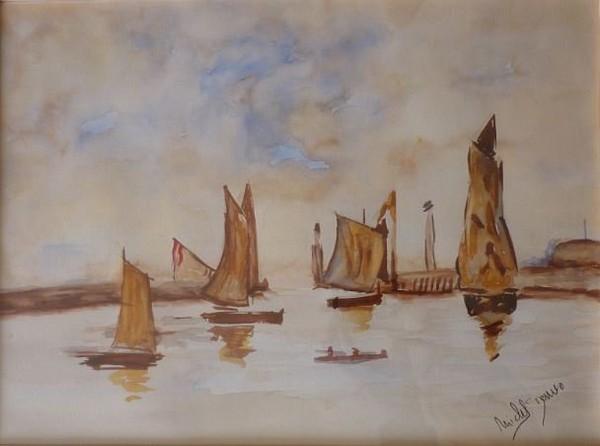 Michel des Arves Artiste Peintre » Archives du Blog » Eugène BOUDIN le port de Trouville