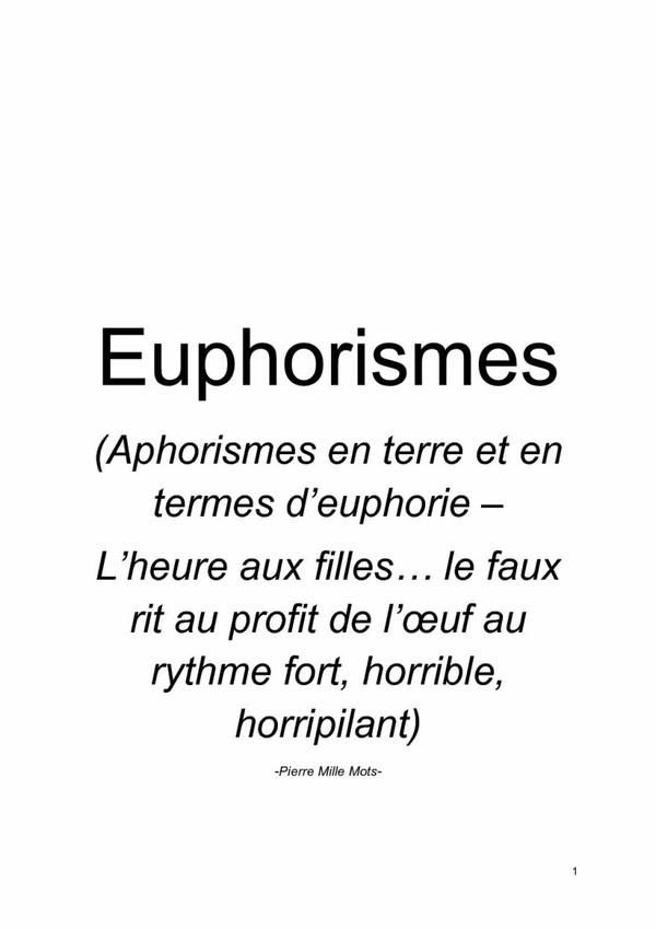 Euphorismes