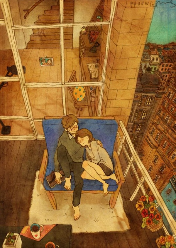 "Artist ""Puuung"" captures those little moments that make love whole in these heartwarming illustrations. 