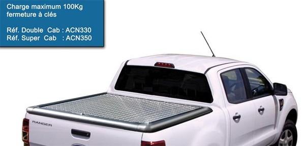 TONNEAU COVER ALU FORD RANGER/MAZDA BT50 DOUBLE CAB 2012+ Cheker