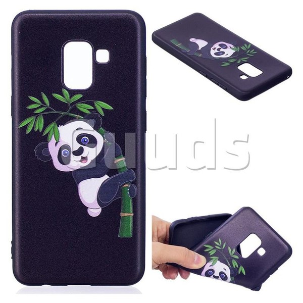 Bamboo Panda 3D Embossed Relief Black Soft Back Cover for Samsung Galaxy A5 2018 A530 - TPU Case - Guuds