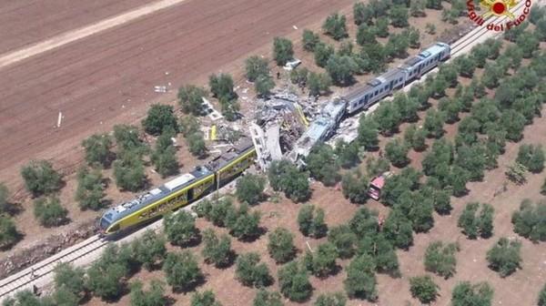Italie: au moins 20 morts et des dizaines de blessés dans une collision de trains dans les Pouilles