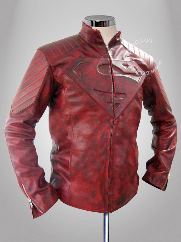 Distress Smallville Superman Leather Jacket