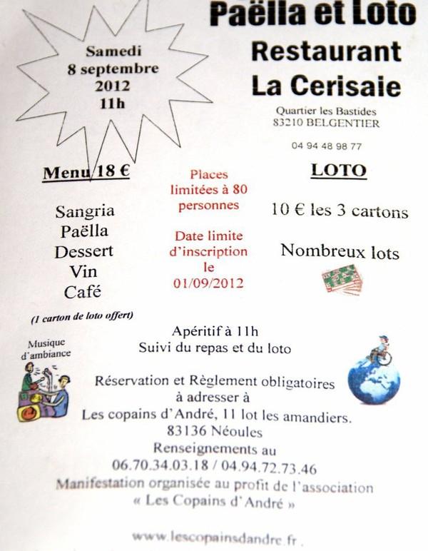 """Manifestation au profit """"les Copains d'André""""...."""