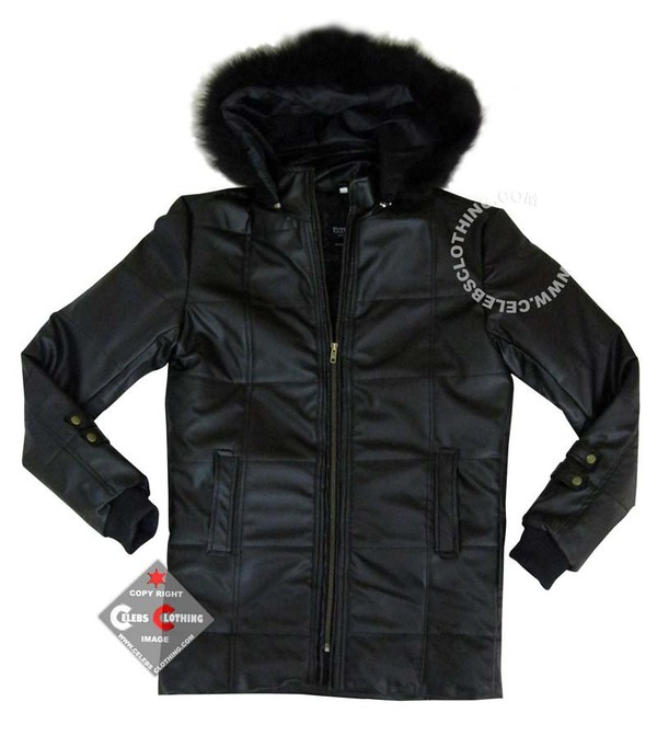 Megan Fox Black Stylish Puffer Coat
