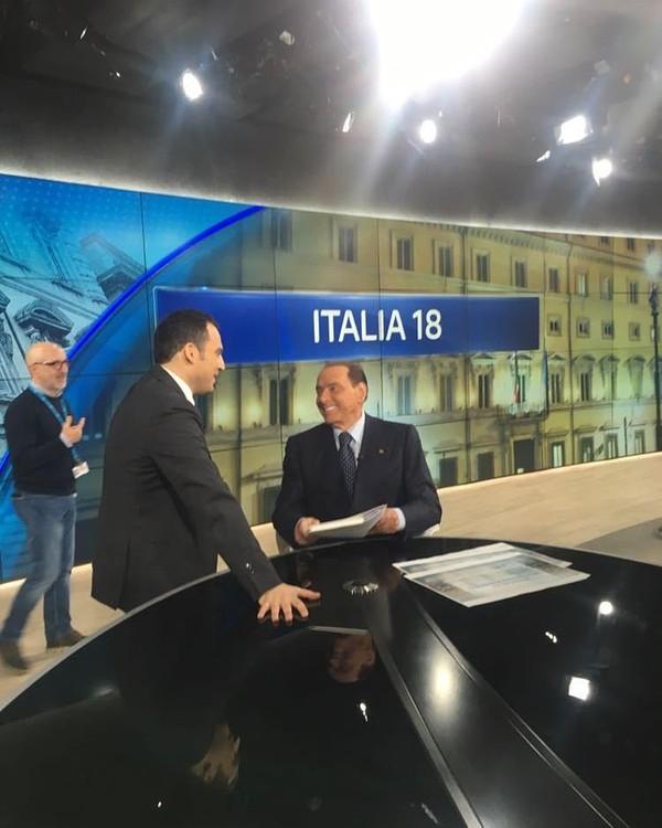 "Silvio Berlusconi on Instagram: ""Ora in onda su #SkyTG24."""