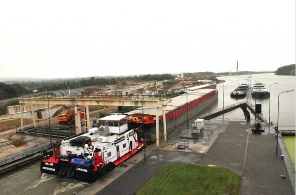 Revue Fluvial Travaux La nouvelle écluse géante de Lanaye devrait faire sauter le bouchon de la Meuse