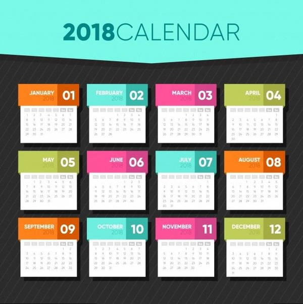 2018 Printable Calendar Template | Calendar 2018