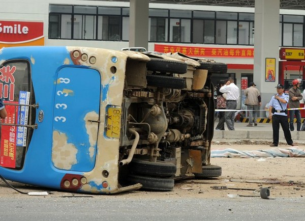 Photos Chine : six morts dans un accident de la route dans l'Anhui