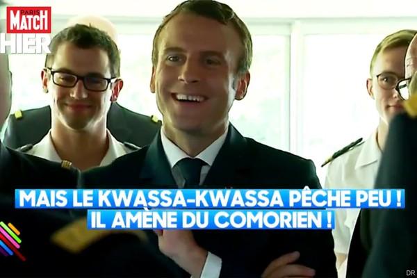 Macron suscite un tollé suite à une blague gênante