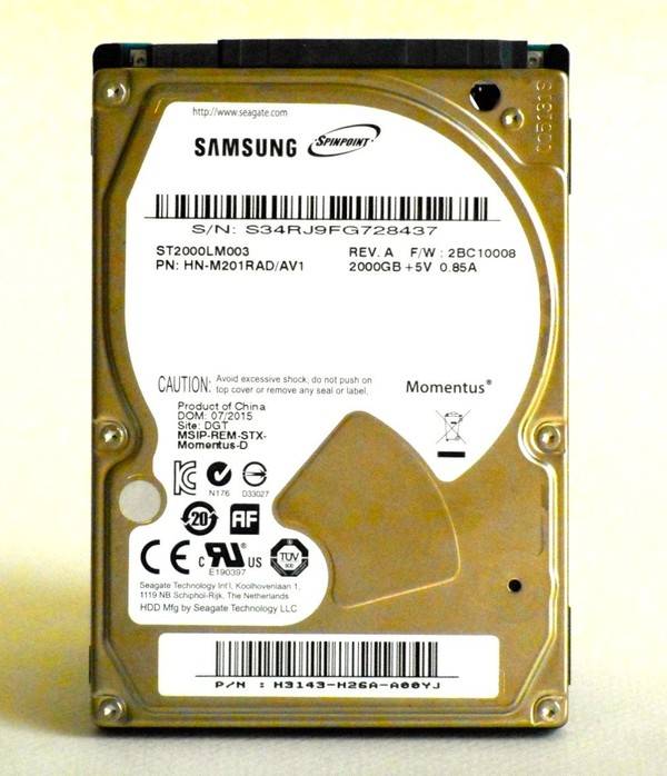 """D.D. 2.5"""" 2 To/TB SEAGATE ST2000LM003 SAMSUNG SPINPOINT M9T MAC PC PS3 PS4 XBOX1"""