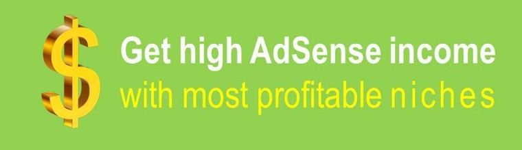 Get high AdSense income with most profitable niches