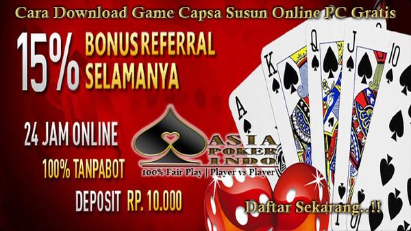 Cara Download Game Capsa Susun Online PC Gratis