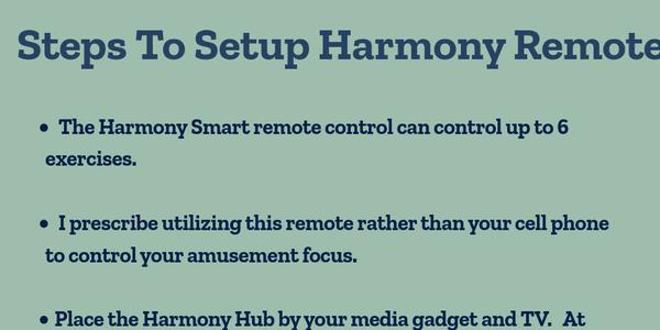 Steps to setup harmony remote +1-844-717-2888 by harmony alexa - Infogram
