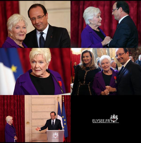 Cérémonie de remise des insignes de Grand Officier de la Légion d'honneur à Mme Line RENAUD