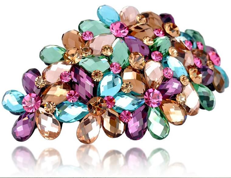 Couleurs Cristal Swarovski fashion petite amie cadeaux femme barrette 10.0cm*5.5cm 45g