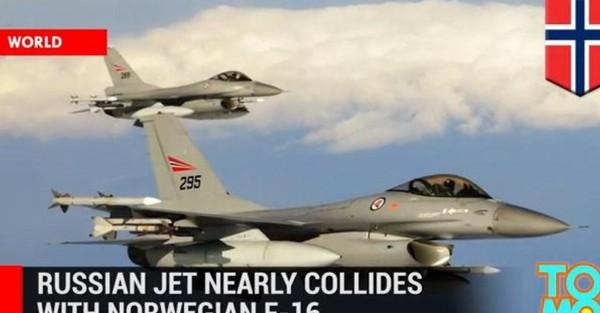 Un Mig russe a failli entrer en collision avec un F16 norvégien (vidéos)