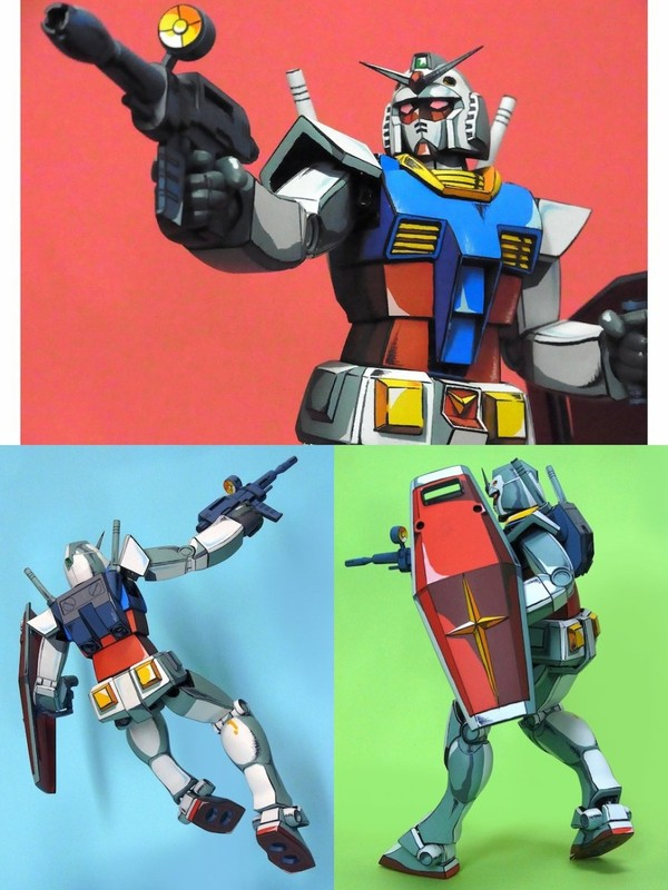 gunjap: Old Kit 1/100 RX-78-2 Gundam remodeled... - Superficial Internet Complex
