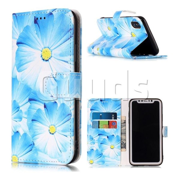 Orchid Flower PU Leather Wallet Case for iPhone X(5.8 inch) - Leather Case - Guuds