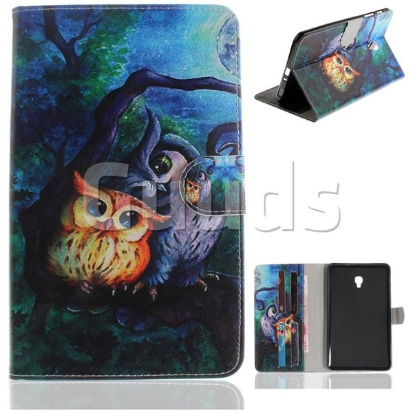 Oil Painting Owl Painting Tablet Leather Wallet Flip Cover for Samsung Galaxy Tab A 8.0 (2017) T380 T385 A2 S - Leather Case - Guuds
