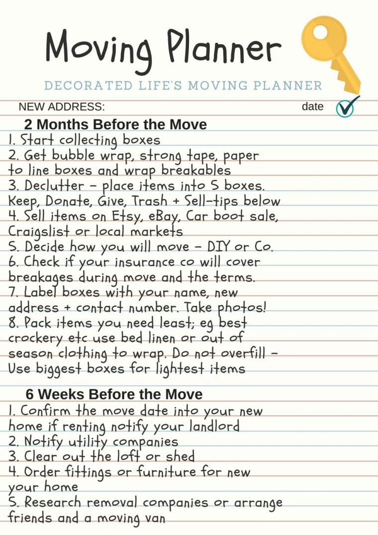 Free moving planner by decorated life