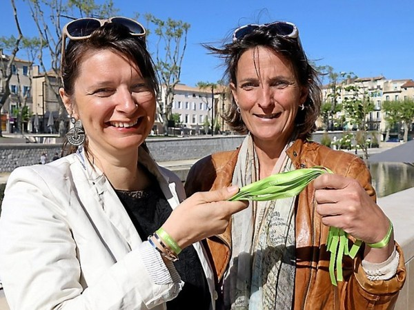 Narbonne : un « ruban vert pomme » contre l'impunité sexuelle