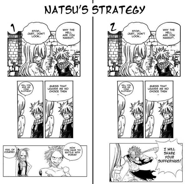 331 - Natsu's strategy by ~Eva-Dudu on deviantART