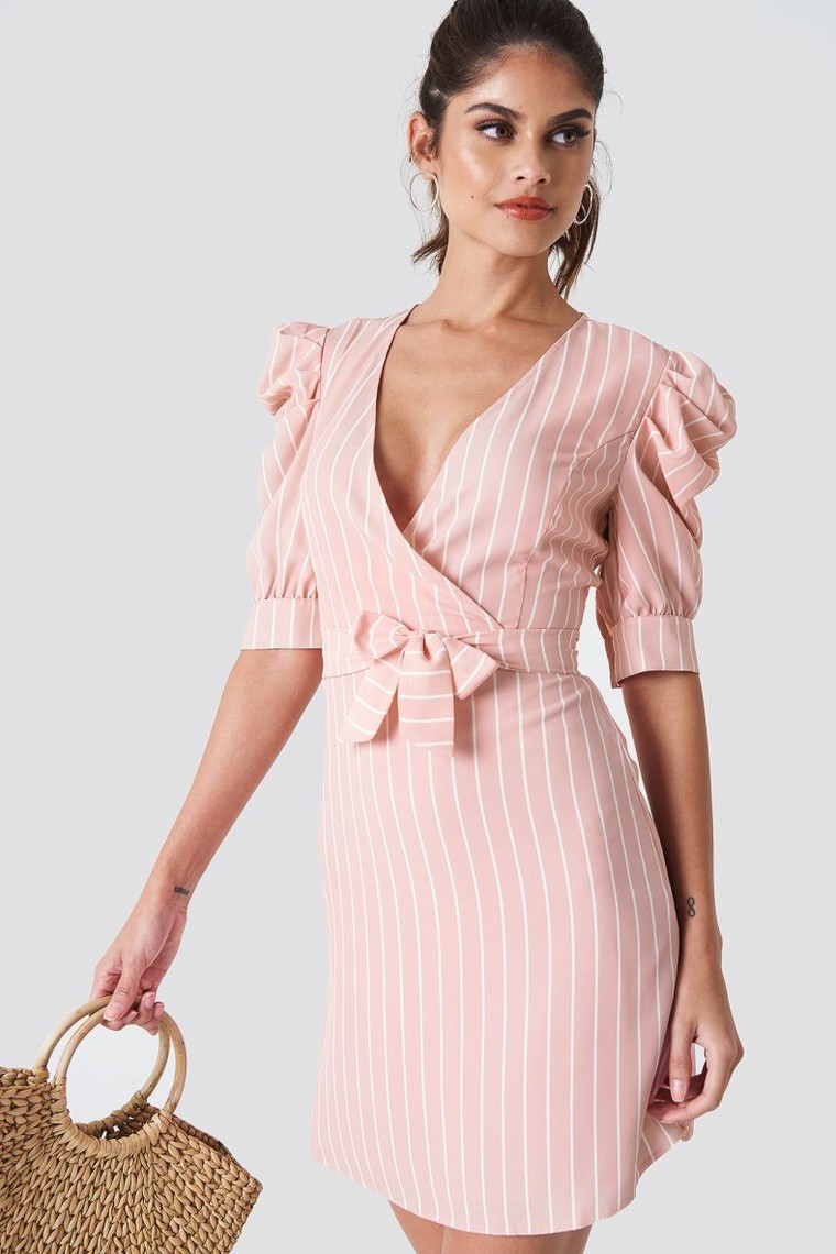 Ballon Sleeve Midi Dress Trendyol NA-KD - Robe NA-KD - Iziva.com