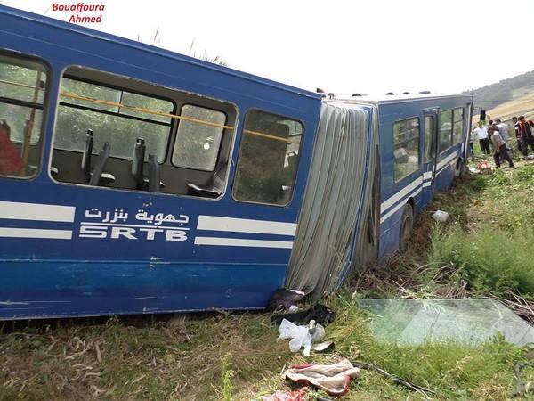 Tunisie - Plus de 40 élèves blessés dans un nouvel accident de bus, près de Ras Jebel (vidéo)
