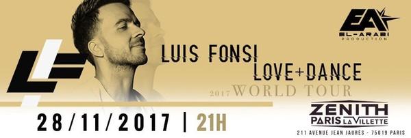 Luis Fonsi sera en concert au Zénith de Paris le mardi 28 novembre 2017 - LNO